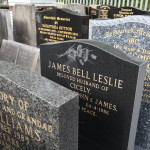 Lettering on Headstones in Widnes